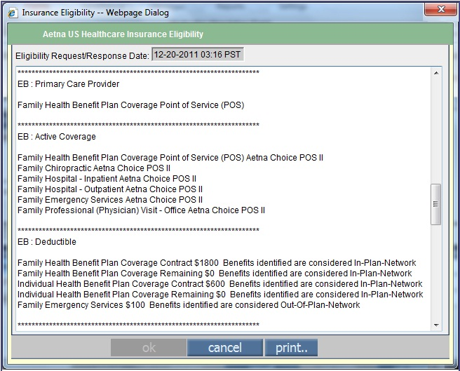 Eligibility Details